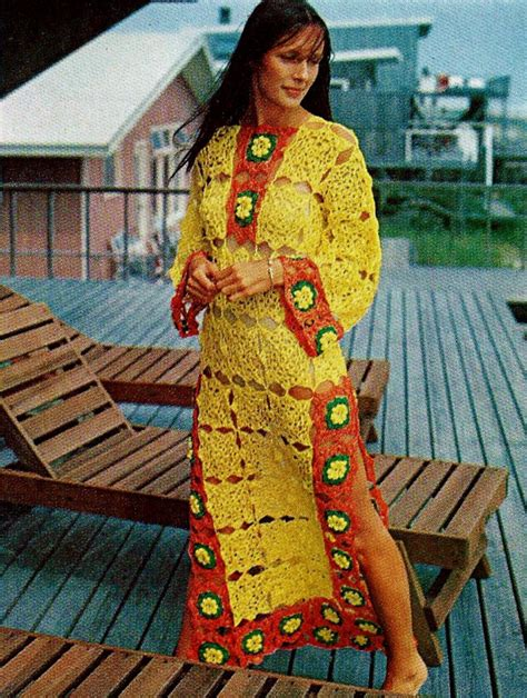 caftan pattern download beach caftan vintage crochet pattern download