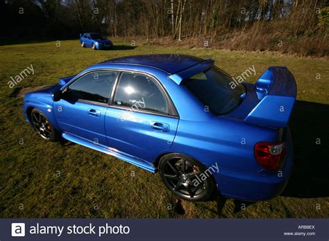 subaru family car subaru impreza turbo blue saloon family car fast