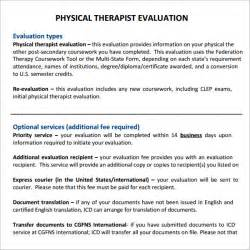 physical therapy evaluation 6 free download for pdf