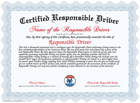 driving certificate template safe driver award certificates memes