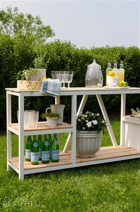 outdoor bar potting bench bbq prep station
