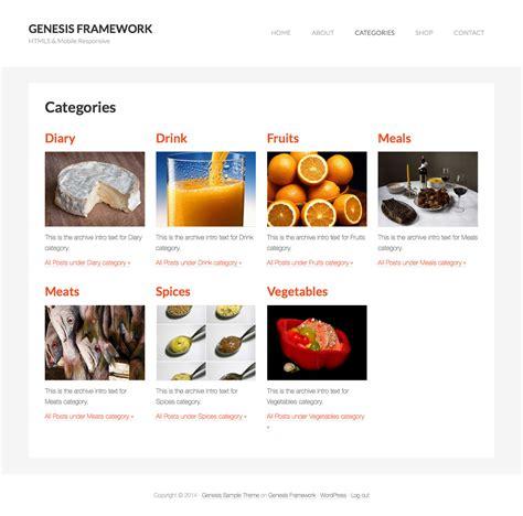 category images grid template  genesis sridhar katakam
