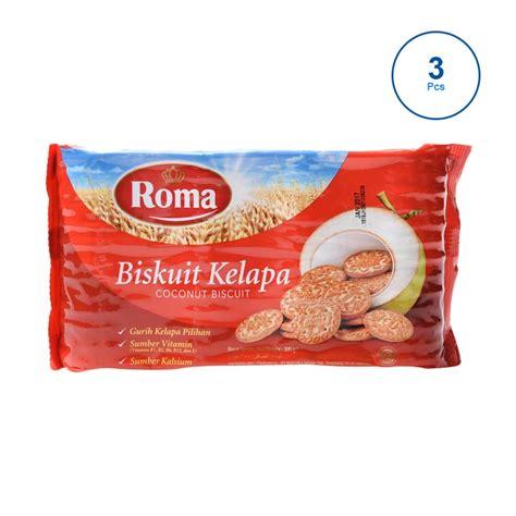 Biskuit Kelapa 300gr jual daily deals roma kelapa new 310675 3 pcs 300gr
