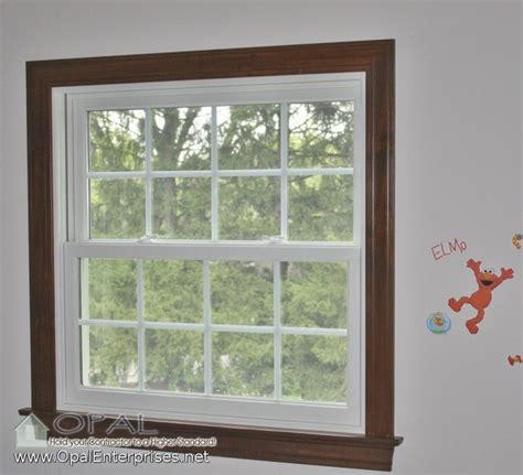 White Windows Wood Trim Decor Andersen A Series 100 Series White Windows Wood