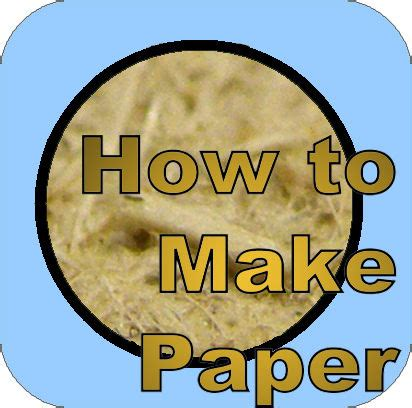 How To Make Recycled Paper At Home - projects for science classes