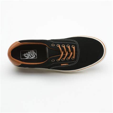 vans u era 59 suede black leather brown skate shoe