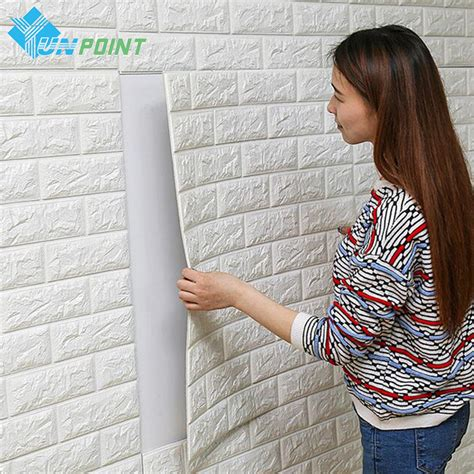 how to decorate wall at home pe foam diy self adhensive 3d wall stickers brick