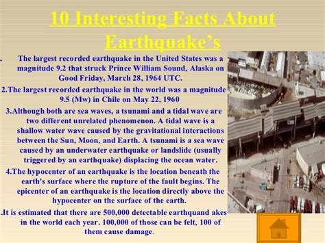 earthquake information lesson on earthquakes powerpoint ppt