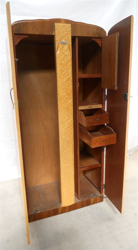 Small Wooden Wardrobe by Small Blond Maple Wood Wardrobe Sold