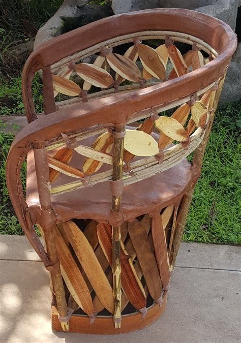 mexican equipale leather slat  chair standard