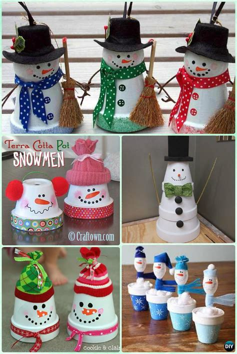 diy terra cotta clay pot christmas craft ideas holiday