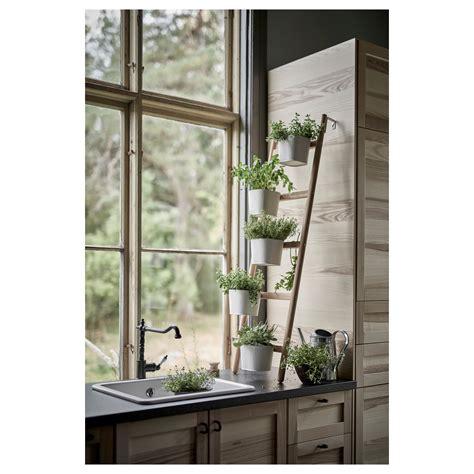 satsumas plant stand ikea satsumas plant stand with 5 plant pots bamboo white 125 cm