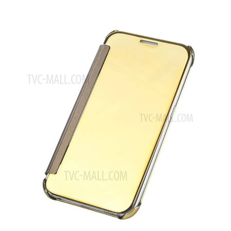 Flip Mirror Samsung Galaxy A5 2017 Berkualitas smart flip view mirror plated mobile casing pc pu leather for samsung galaxy a7 2017 gold