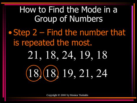 How To Find How To Find The Mode In A Of Numbers Step 1 Arrange The Numbers In Order
