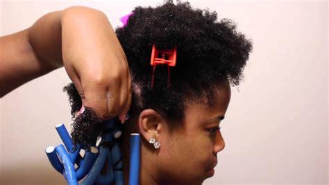 black women rod hair styles flexi rod set on short natural hair best hair style
