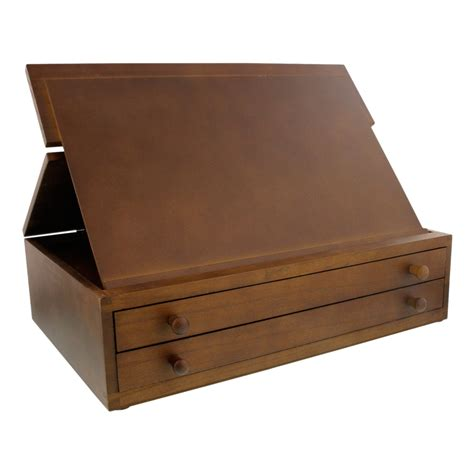 box with drawers us art supply 2 drawer adjustable wooden storage box with