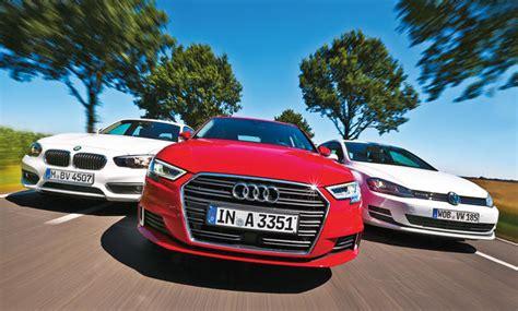Versicherung Auto 1er Bmw by Audi A3 Bmw 1er Vw Golf Vergleichstest Autozeitung De