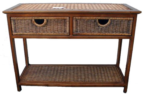 Outdoor Console Table With Storage Outdoor Wicker Console Table With Storage And Drawer Plus Teak Wooden Frame Ideas