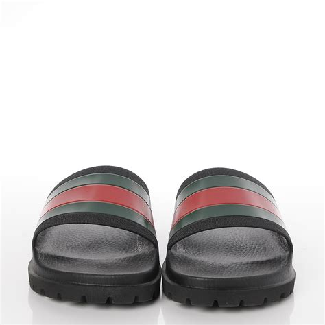 gucci pursuit 72 slide sandals gucci rubber mens pursuit 72 slide sandals 9 black 237711