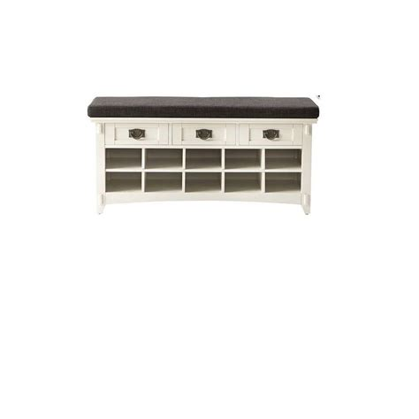 shoe storage bench white home decorators collection artisan white 3 drawer bench