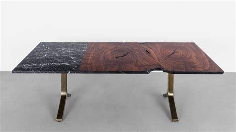 element tabl element dining table by uhuru design walnut slab marble