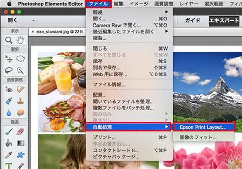 layout manager epson mac os 215 epson 215 photoshop elements 13 プラグインソフト epson print