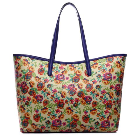 Totebag Flowly Flower l1516nf miss lulu fashionable oilcloth flower tote bag yellow