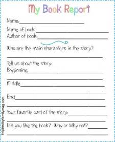 Book Report Writer Printable Book Report Forms Elementary Book And Book