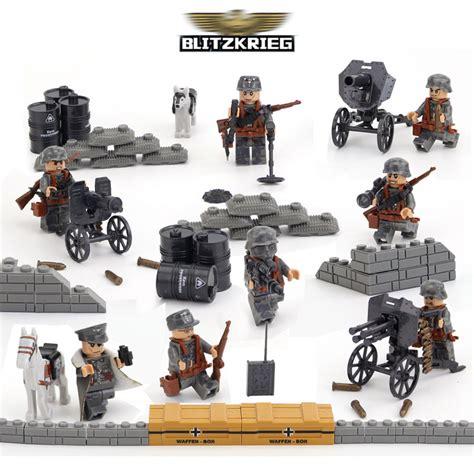 Mainan Bricks Army Ww Ii Set By Doll world war ii ww2 german blitzkrieg assault war model army building blocks brick