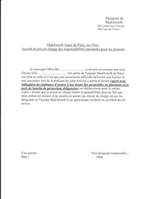 Lettre De Prise En Charge Des Parents Pour Visa Canada Accord De Prise En Charge Des Responsabilit 233 Parentale Pour Les Mineurs