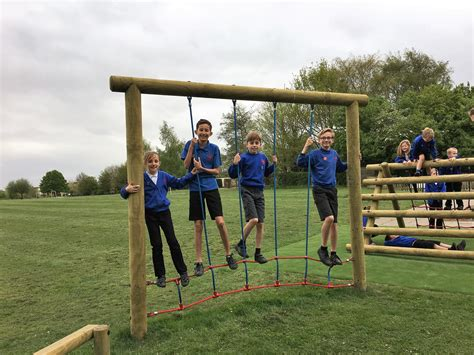 school playground swings fenstanton and hilton s trim trail equipment pentagon play