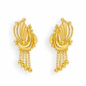 gold earrings images earrings gold feather and balls earrings grt jewellers