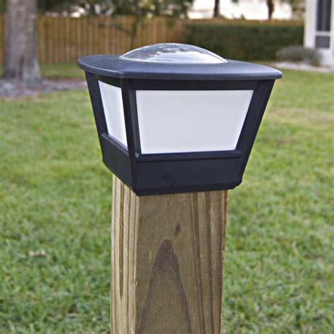 fence post lights solar 4x4 fence post solar light by free light 4x4 post cap