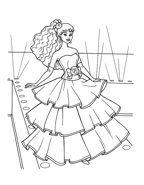 barbie doll coloring pages az coloring pages