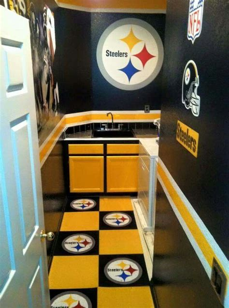 steelers bathroom stuff decor for the wo man cave pittsburgh steelers