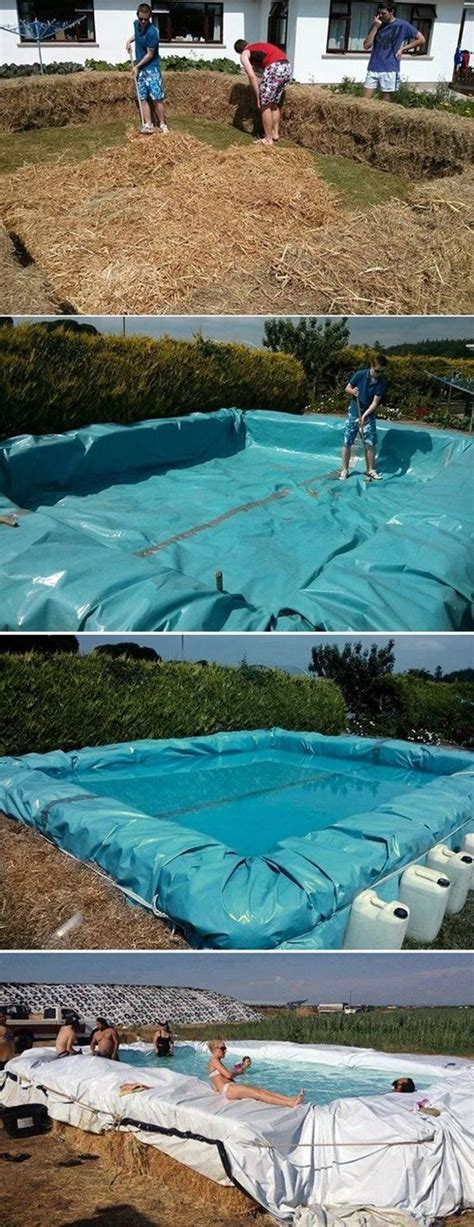 how to build a hay bale swimming pool 14 awesome ideas for your backyard this summer part 2