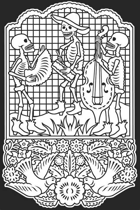coloring pictures of dia de los muertos d 237 a de los muertos mexican irish culture pinterest