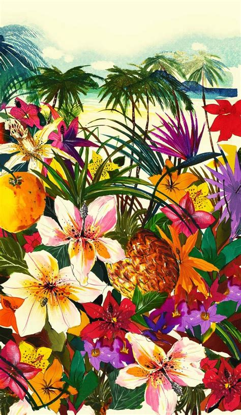 hawaiian pattern iphone wallpaper anatomy of a muse juicycouture this dreamy tropical