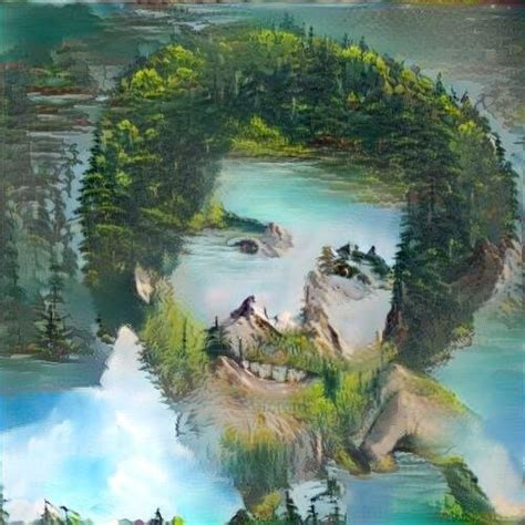 best bob ross painting computer generated bob ross painting using bob ross