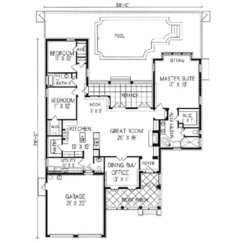 southwestern house plans adobe southwestern style house plan 3 beds 2 5 baths 2226 sq ft plan 76 102