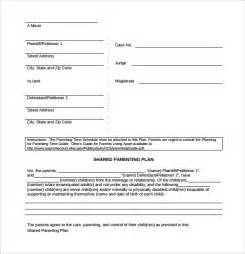 sample parenting plan template 8 free documents in pdf