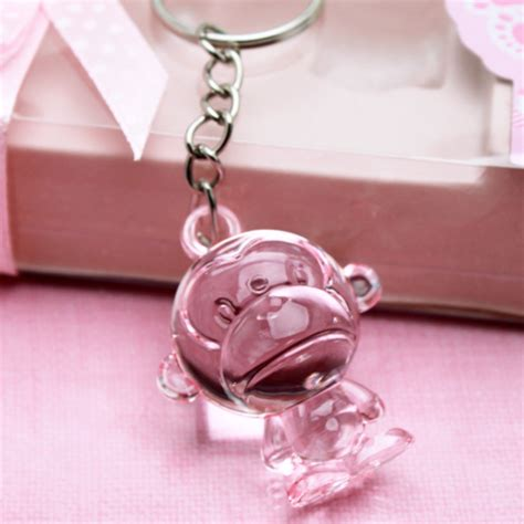 Keychain Baby Shower Favors by Safari Monkey Keychain Favors Baby Shower Favors And