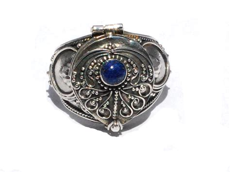 how to make sterling silver jewelry at home sterling silver bali made poison ring with genuine lapis