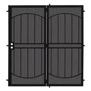 Patio Security Screen Doors by Unique Home Designs 72 In X 80 In Arcada Black
