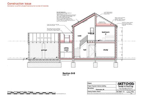 section of a house plan exle building plans developer 4 bedroom detached house