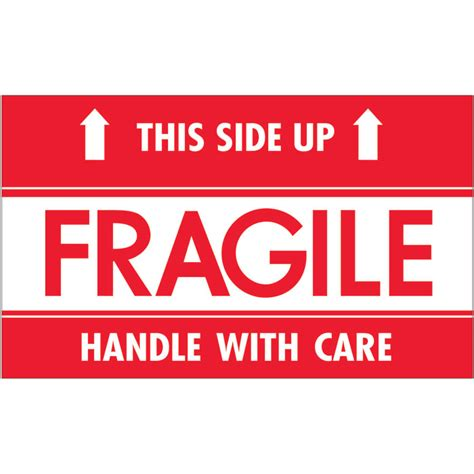 shipping label this side up 3 quot x 5 quot quot fragile this side up hwc quot labels