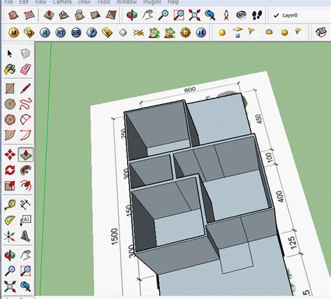 tutorial menggambar rumah dengan sketchup tutorial sketchup membuat denah rumah part 2 gudang