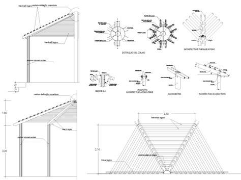 disegno tettoia in legno tettoia in legno dwg ox37 187 regardsdefemmes