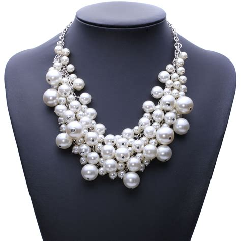 aliexpress necklace new arrival fashion chunky luxury bubble simulated pearl
