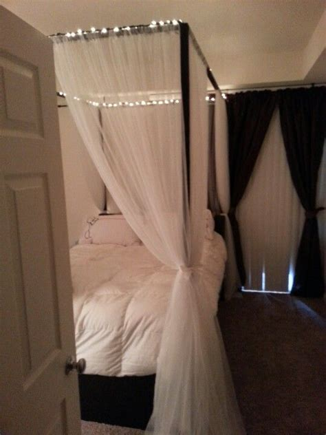 Diy Canopy Bed With Lights Diy Canopy Bed With Rope Lights Home Goodness Circles The White And Diy Canopy